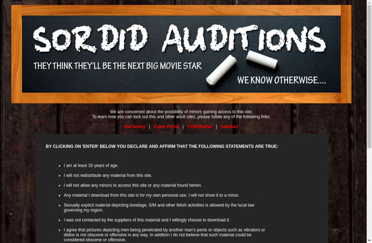 Sordid Auditions