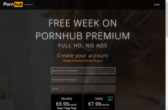 Discounted price to Pornhub Premium subscription