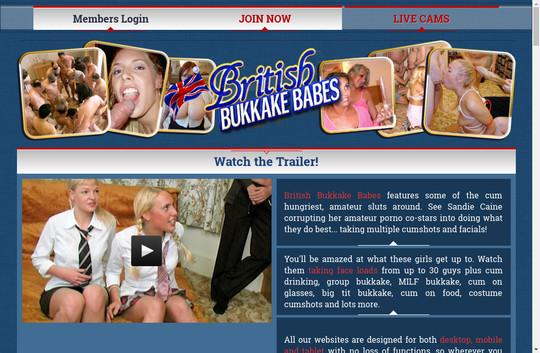 British Bukkake Babes, britishbukkakebabes.com