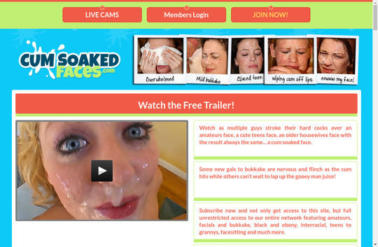 Cum Soaked Faces, cumsoakedfaces.com