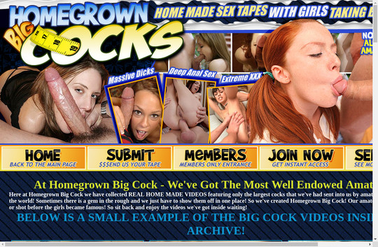 Homegrown Big Cocks, bigcock.homegrownvideo.com