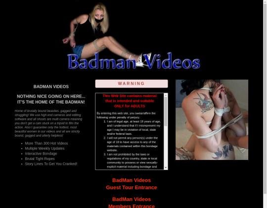 Bad man videos, badmanvideos.com