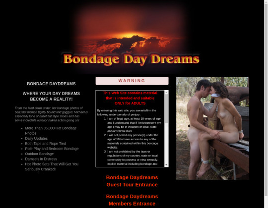 Bondage daydreams, bondagedaydreams.com