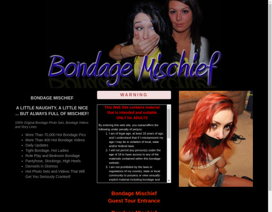 Discounted price to Bondage mischief