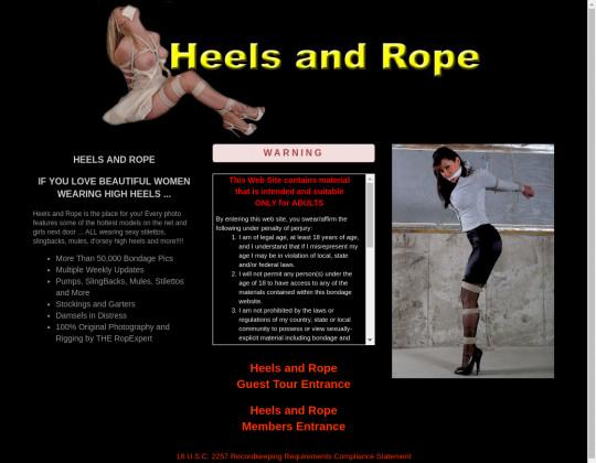 Heels and rope, heelsandrope.com
