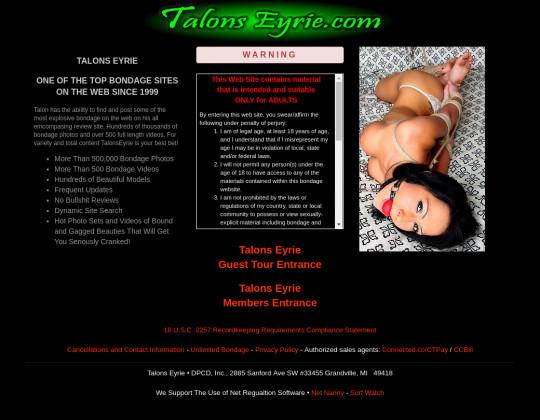 Talons eyrie, talonseyrie.com