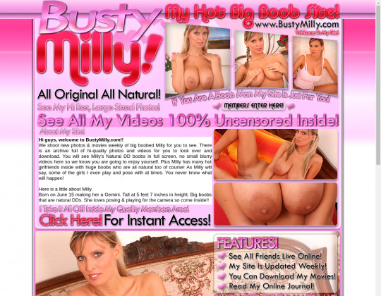 Busty milly, bustymilly.com