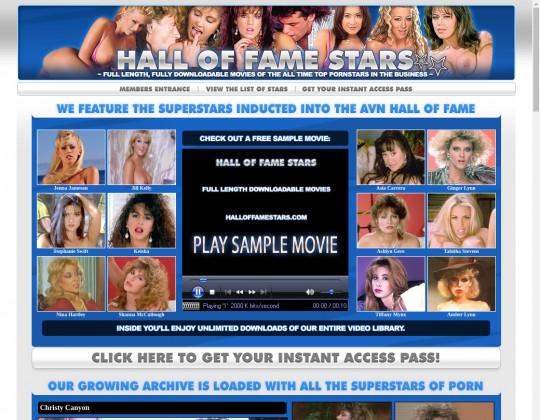 Hall of fame stars, halloffamestars.com
