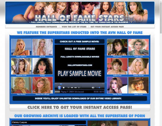 Halloffamestars.com free discount
