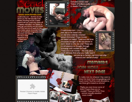 Real cruel movies, realcruelmovies.com