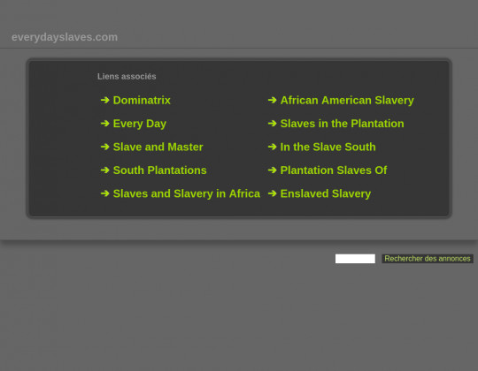 Everyday slaves, everydayslaves.com