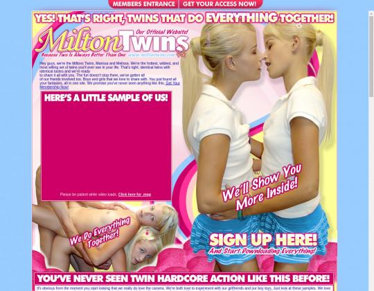 Milton twins, miltontwins.com