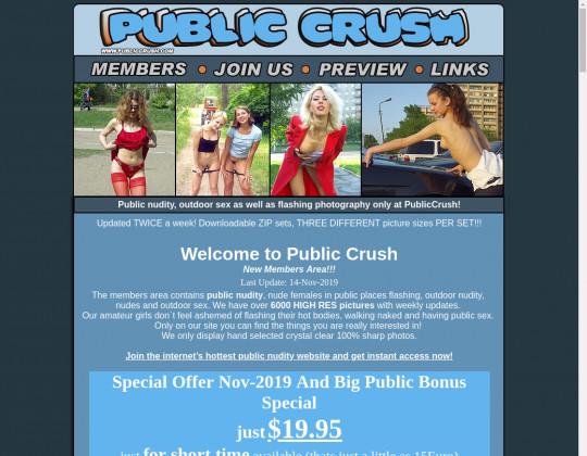 Public crush, publiccrush.com
