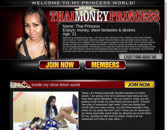 Thai money princess, thaimoneyprincess.com