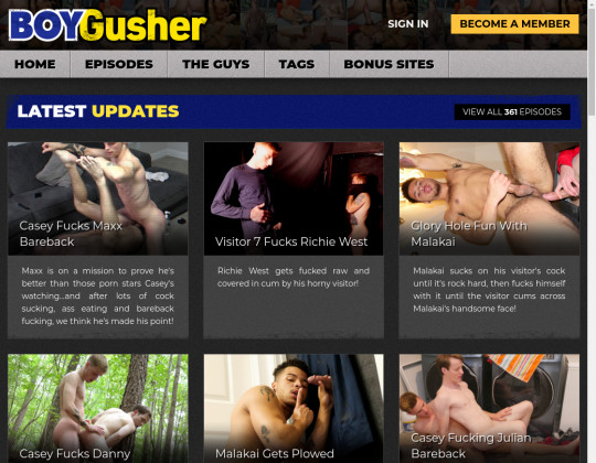 Boy gusher, boygusher.com