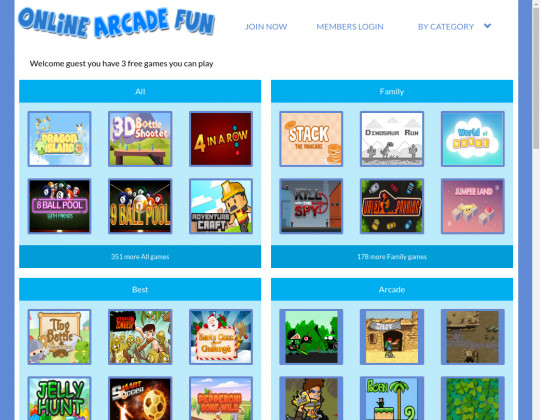 Online arcade fun, onlinearcadefun.com