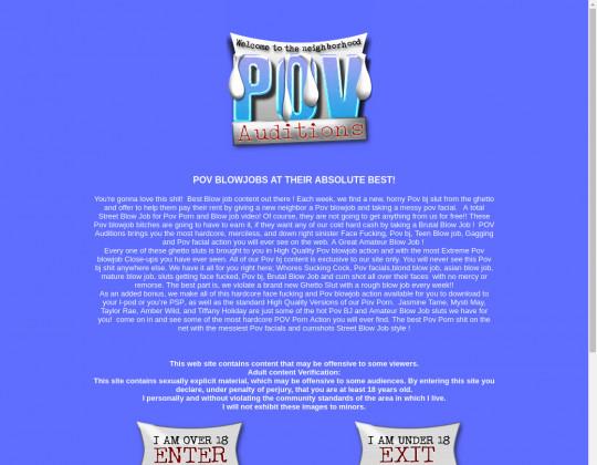 Pov-auditions.com free discount
