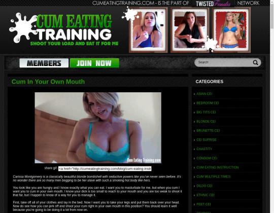 Cum eating training, cumeatingtraining.com