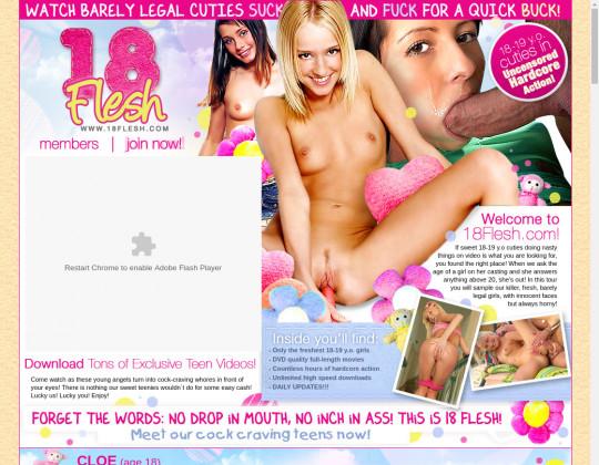 18 flesh, 18flesh.com