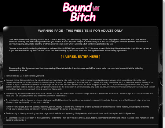 Bound my bitch, boundmybitch.com