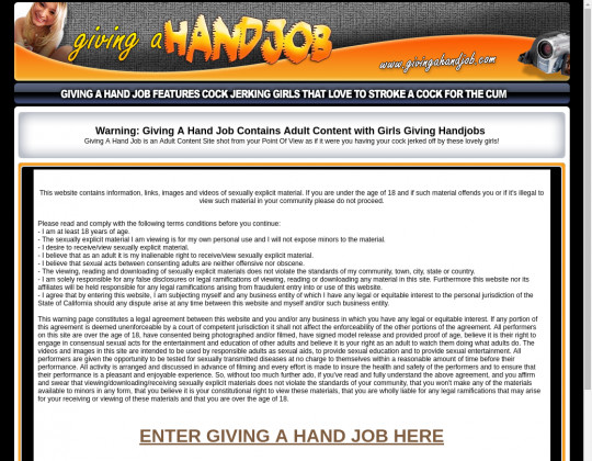 Giving a hand job, givingahandjob.com