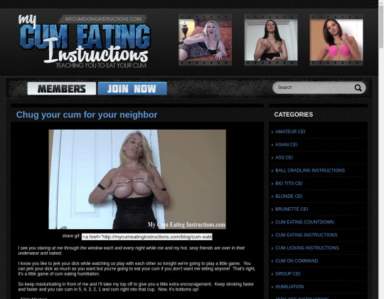 My cum eating instructions, mycumeatinginstructions.com